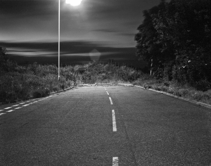 End of Road B&W